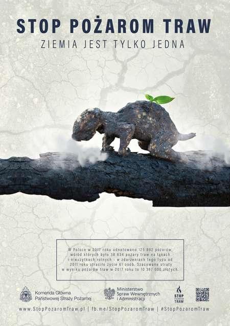 Plakat Stop pożarom traw