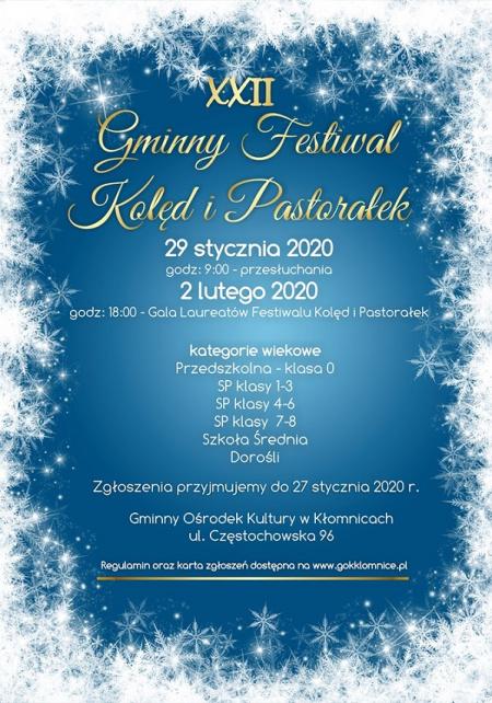 XXII Gminny festiwal Kolęd i Pastorałek
